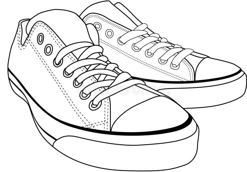 帆布鞋 向量例证