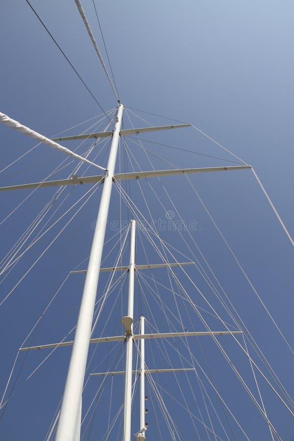 帆柱船 库存图片