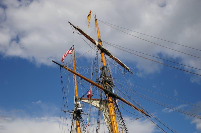 帆柱船 免版税库存照片