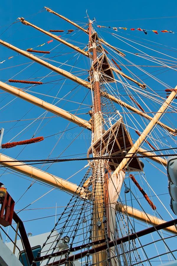 帆柱视图 免版税库存图片
