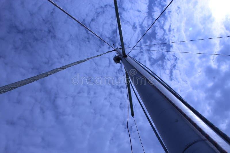 帆船下令人惊叹的天空摄影 免版税库存图片