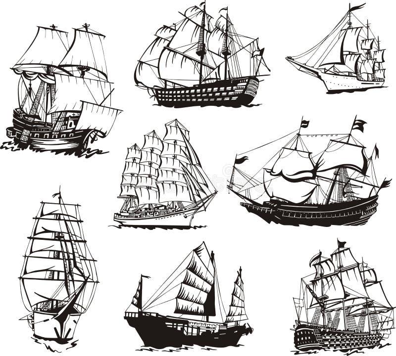 帆船剪影  皇族释放例证