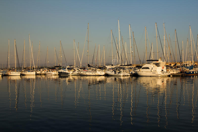 帆船和游艇 免版税库存照片
