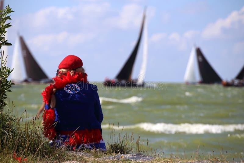 帆船在逐年竞争中 免版税图库摄影
