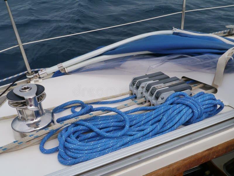 帆船的细节 库存照片