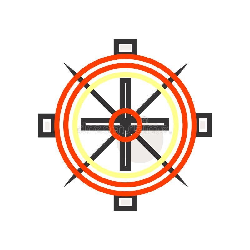 帆船象在白色背景和标志隔绝的传染媒介标志,帆船商标概念 库存例证
