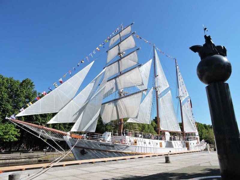 帆船,立陶宛 免版税库存图片