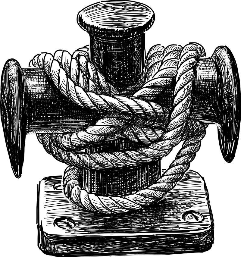帆船系船柱  皇族释放例证