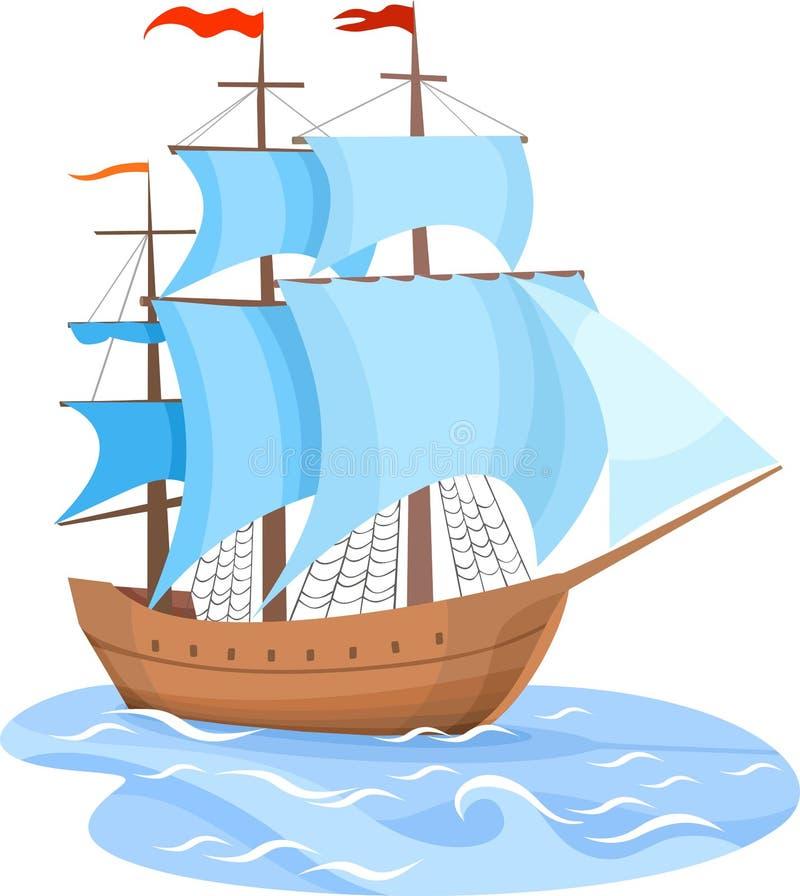 帆船 向量例证