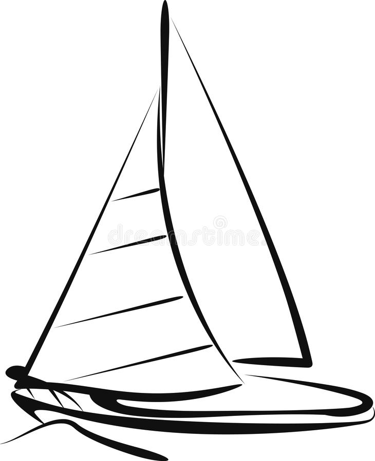 帆船 皇族释放例证