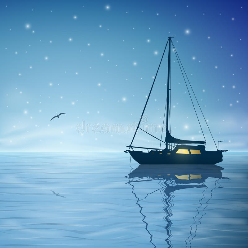 帆船 库存例证