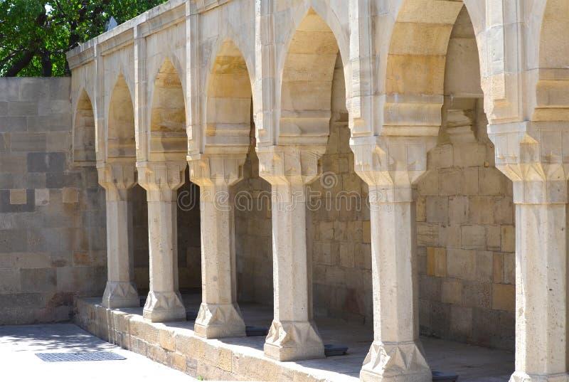 希尔万沙宫殿在老镇巴库,阿塞拜疆首都 免版税库存图片