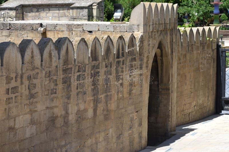 希尔万沙宫殿在老镇巴库,阿塞拜疆首都 库存图片