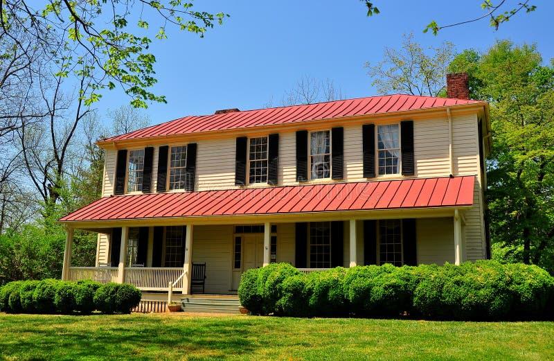 希尔斯伯勒角, NC :1821为妇女的Burwell学校 库存照片