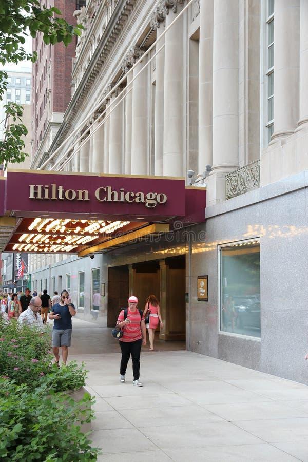希尔顿芝加哥 免版税库存图片