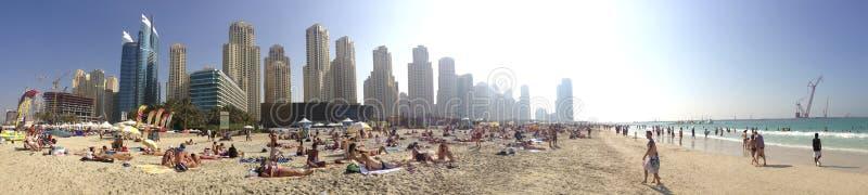 希尔顿Jumeirah手段,迪拜,阿拉伯联合酋长国 免版税库存图片