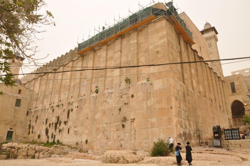 希布伦以色列女家长族长坟茔 库存图片