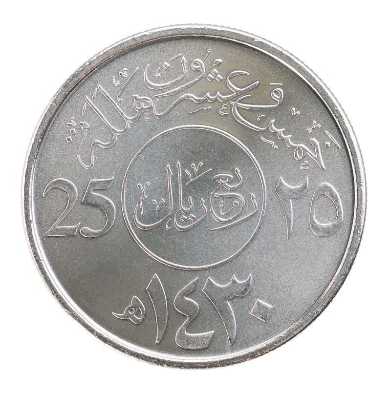 希拉勒沙特阿拉伯的硬币 库存照片