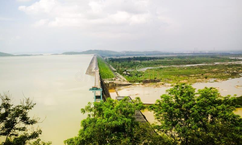 希拉库德水坝 库存照片