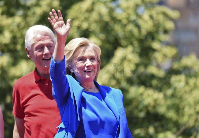 希拉里和比尔・克林顿 免版税图库摄影