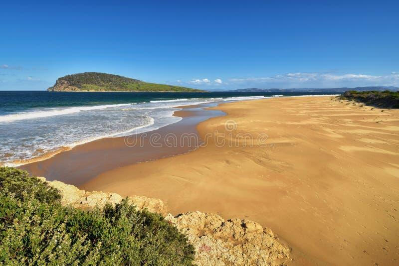 希望海滩和贝齐海岛,南胳膊,霍巴特,塔斯马尼亚岛,澳大利亚 库存图片