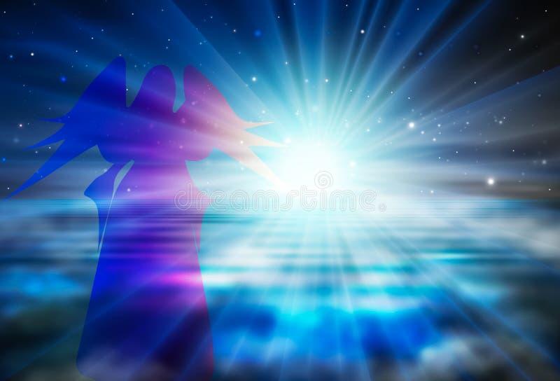 希望,信任,在上帝精神复兴概念的信念 皇族释放例证