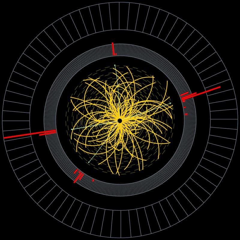希格斯玻色子大强子碰撞 皇族释放例证