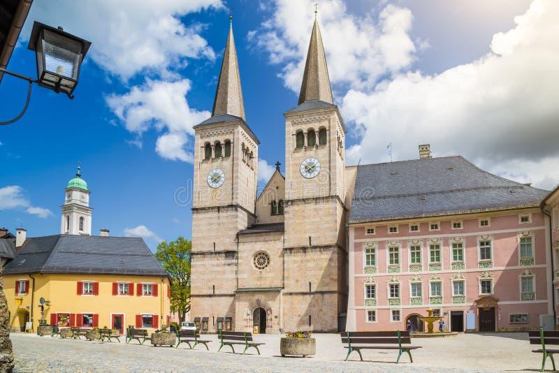 贝希特斯加登古镇, Berchtesgadener土地,上部Bava 库存图片