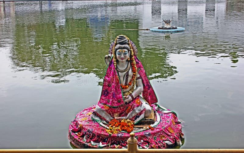 希瓦阁下神象Durgiana寺庙的,阿姆利则,印度 库存照片