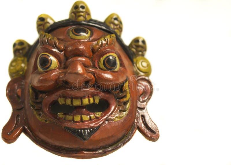 希瓦Mahakala,一个传统尼泊尔面具 免版税库存图片