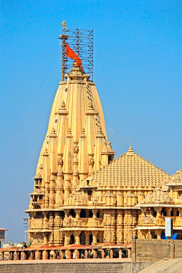 希瓦Somnath寺庙 库存照片
