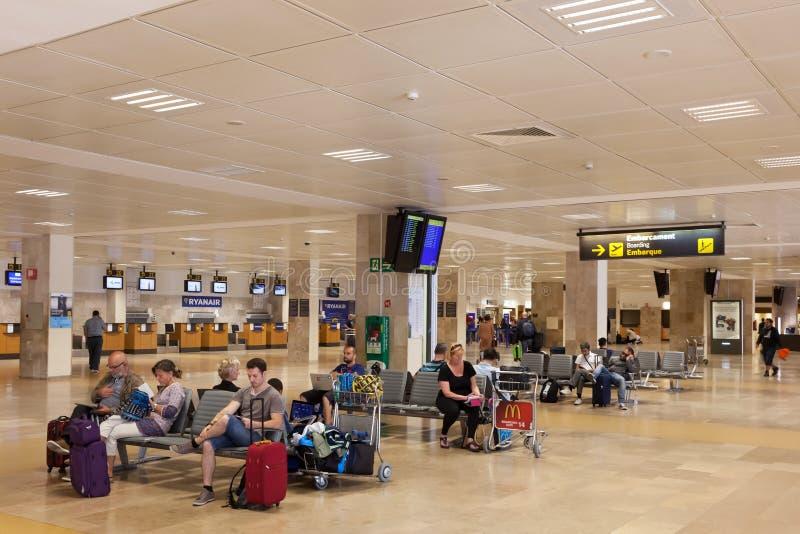 希罗纳机场,西班牙 免版税库存照片