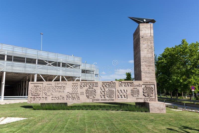 希罗纳机场,西班牙 库存图片