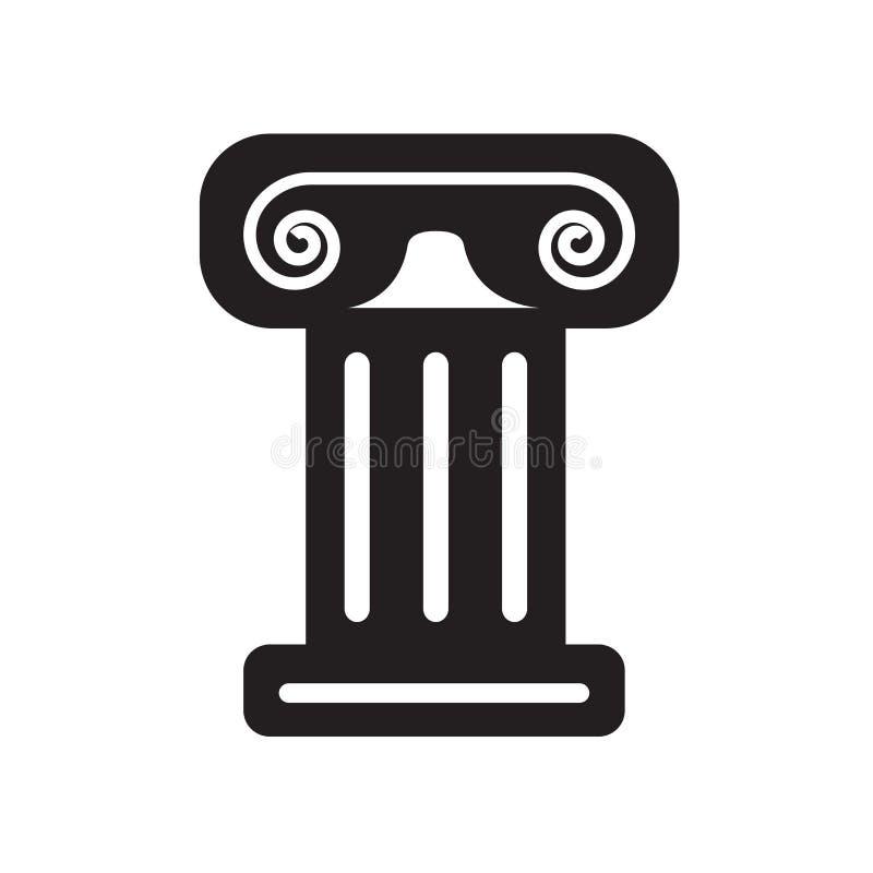 希腊专栏象在白色backg隔绝的传染媒介标志和标志 向量例证