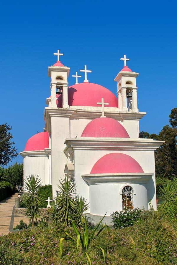 希腊东正教在Capernaum,以色列。 免版税库存照片