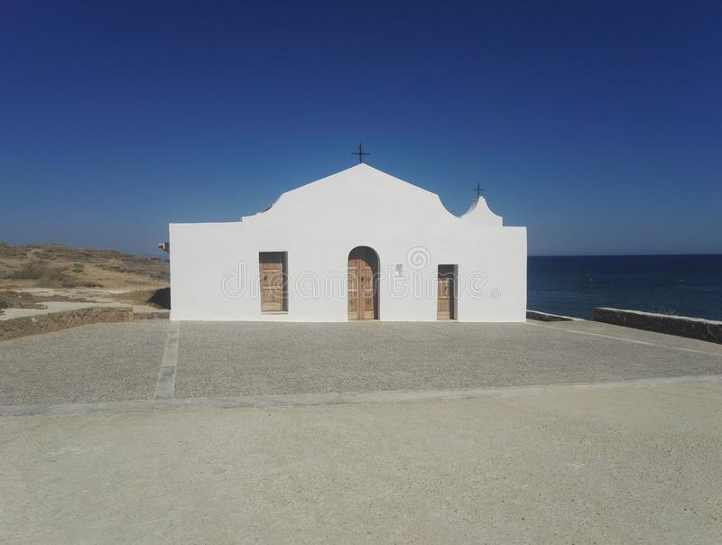 希腊东正教,圣尼古拉斯,扎金索斯州正面图  免版税图库摄影