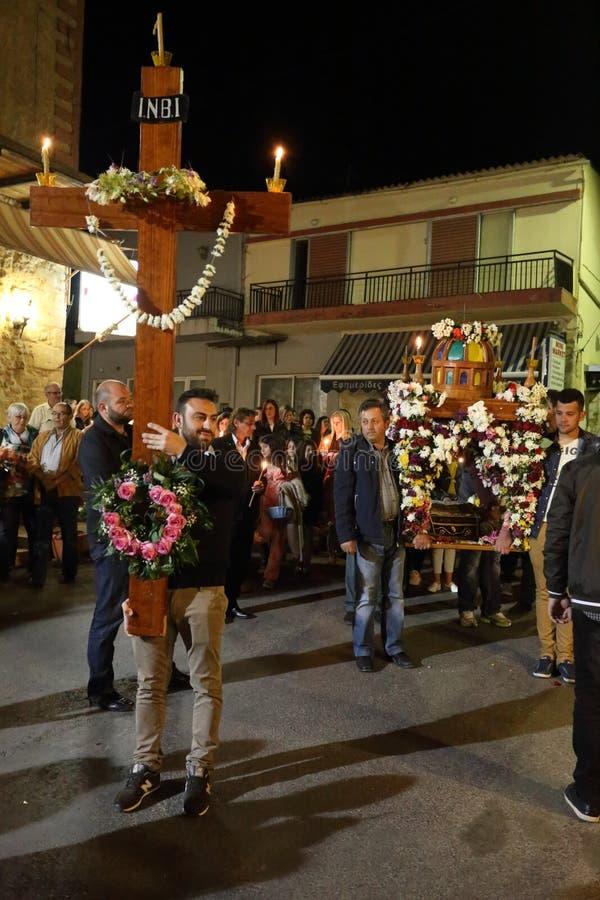 希腊人在克利特的复活节庆祝 免版税库存照片