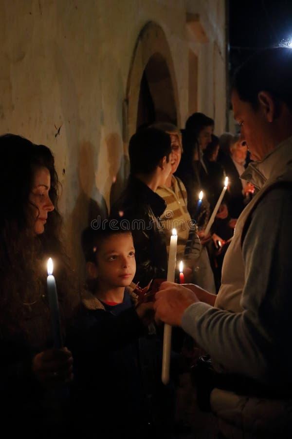 希腊人复活节庆祝在克利特 库存图片