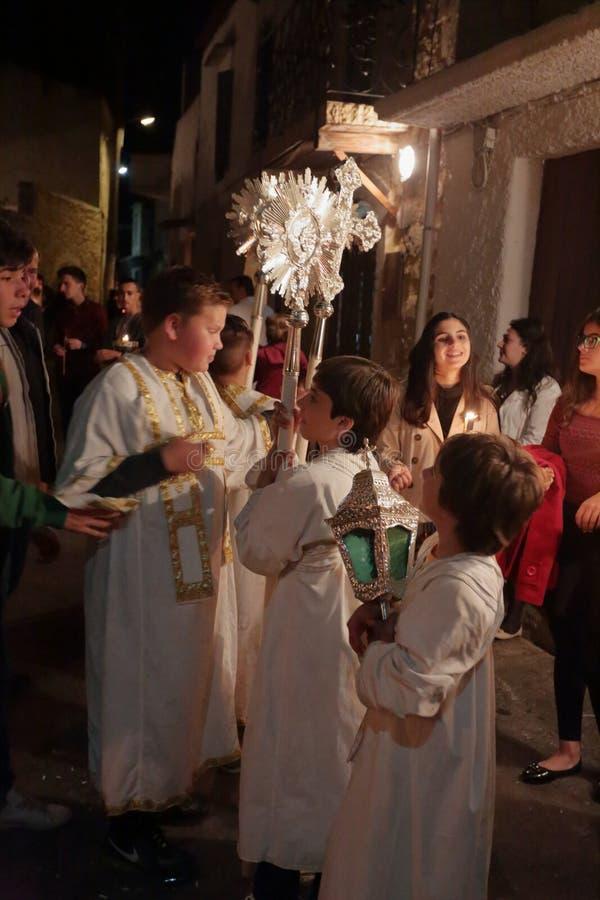 希腊人复活节庆祝在Prines克利特 库存照片
