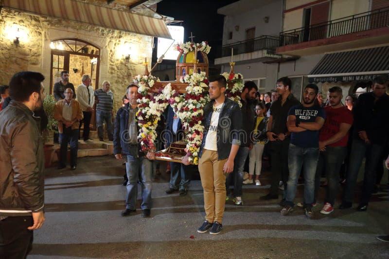 希腊人复活节队伍 免版税图库摄影