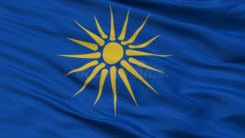 希腊人马其顿旗子特写镜头视图 库存例证