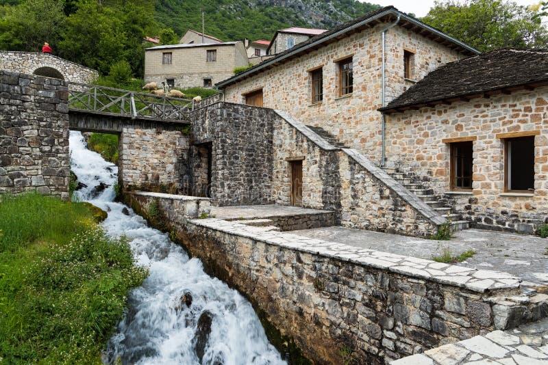 希腊传统村庄 库存照片