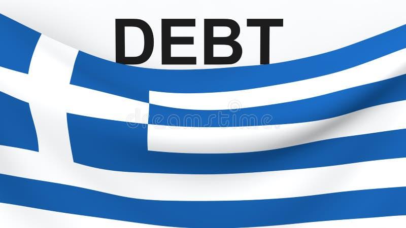 希腊借方危机概念 皇族释放例证