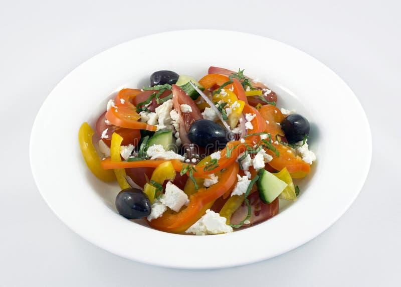 希腊健康沙拉 库存照片