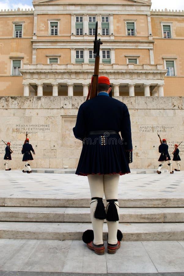 希腊卫兵 库存图片
