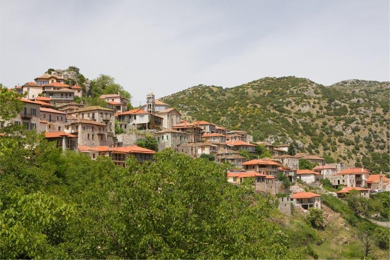 希腊历史城镇 库存图片