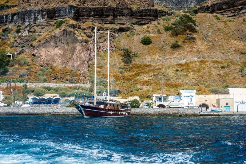 希腊圣托里尼港 免版税库存图片