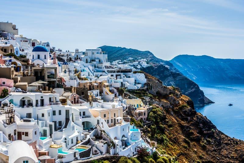 希腊圣托里尼的伊亚村,欧洲 库存图片