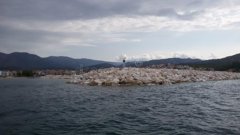 希腊在希腊盗版小船假日 库存照片