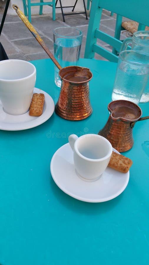 希腊在我的咖啡 免版税库存照片